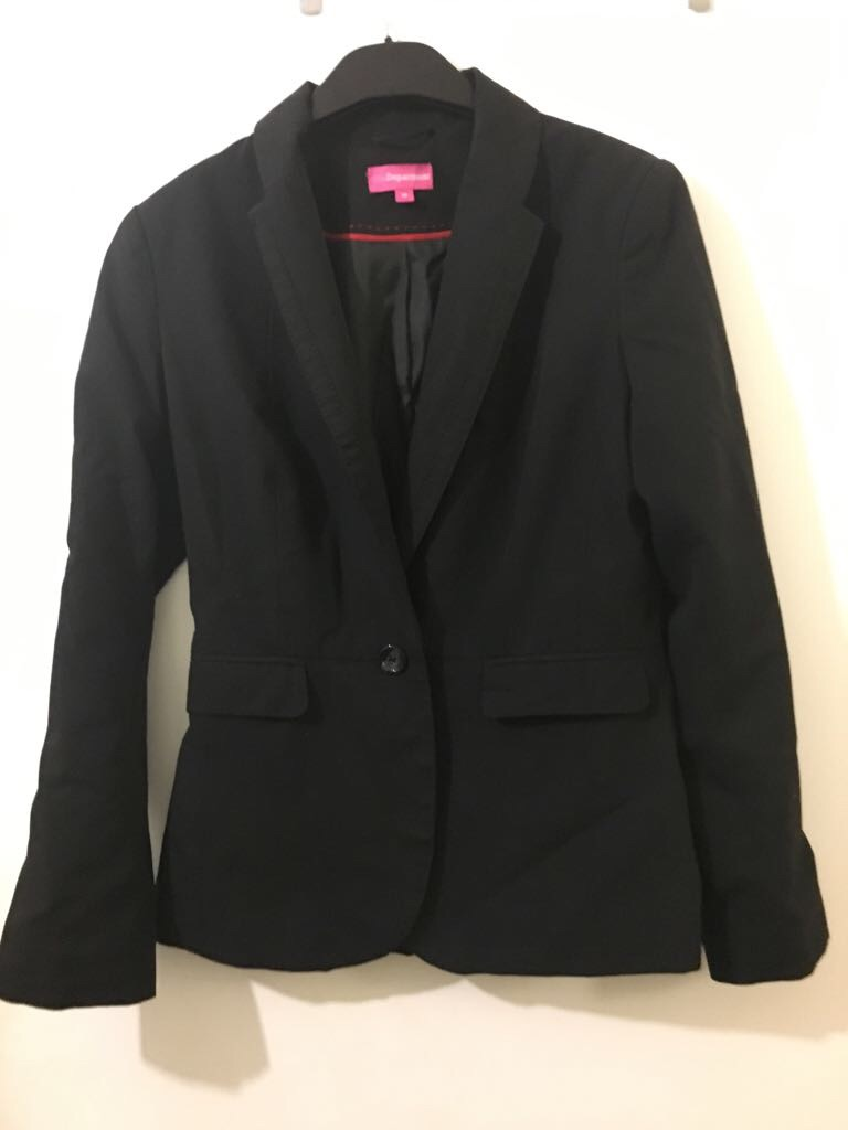 Black tailored work jacket size 10 The Department