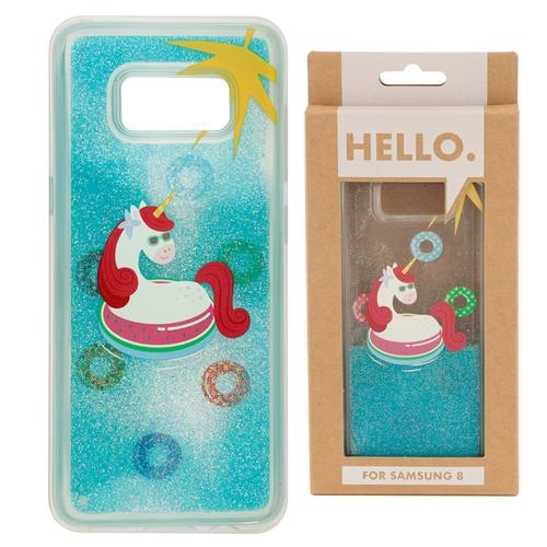 Samsung 8 phone case- tropical vacation vibes unicorn
