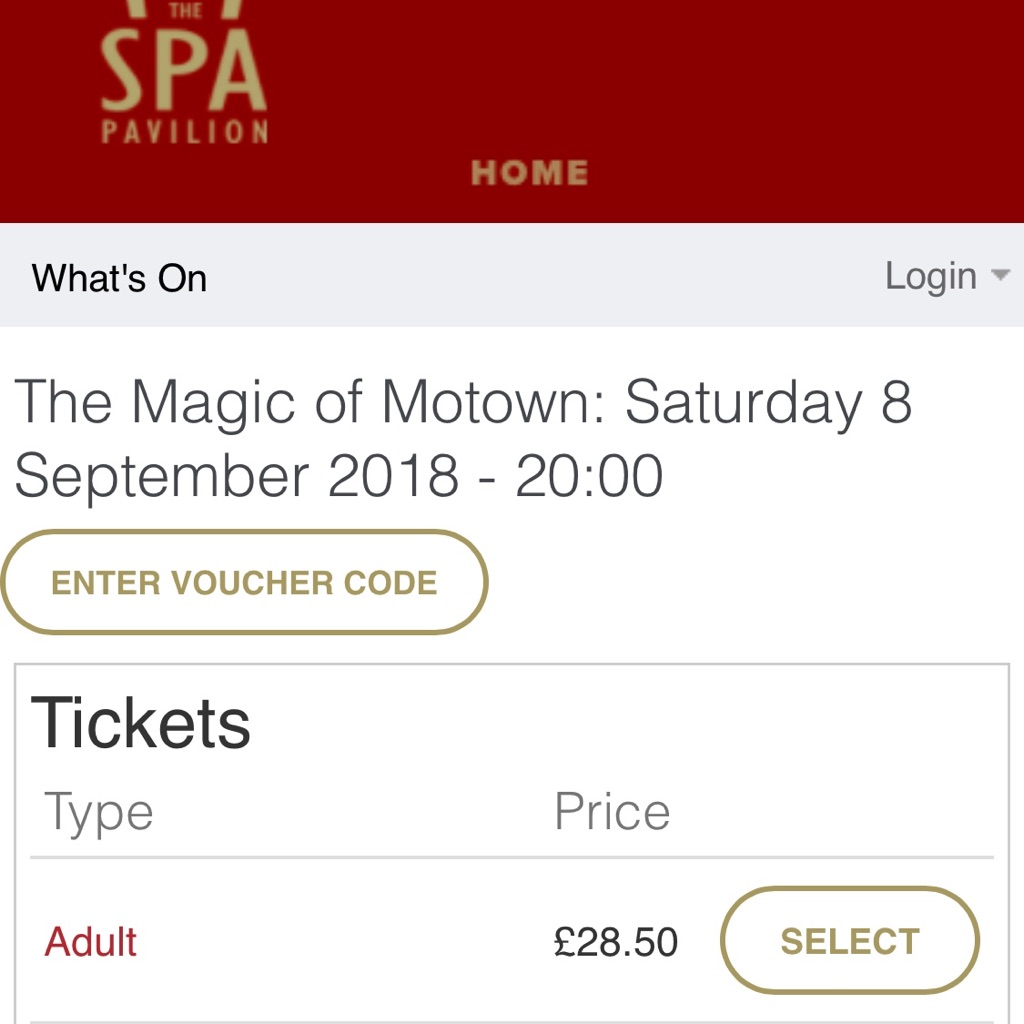 4 Magic of Motown Theatre Tickets, for 8th sept.