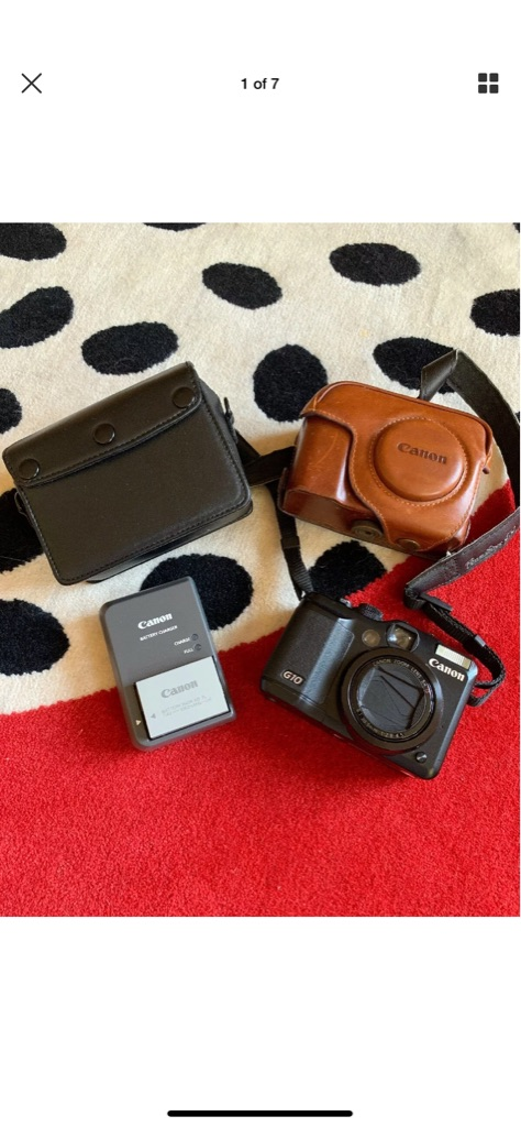 Canon PowerShot G10 14.7MP Digital Camera with Leather Case from Japan
