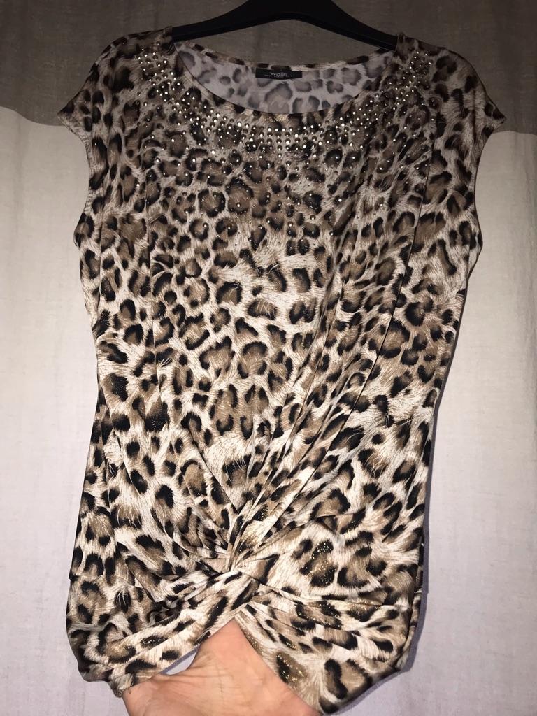 Leopard print woman's top