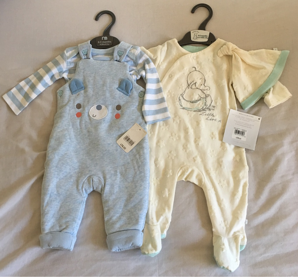 Baby clothing 0-3 months.
