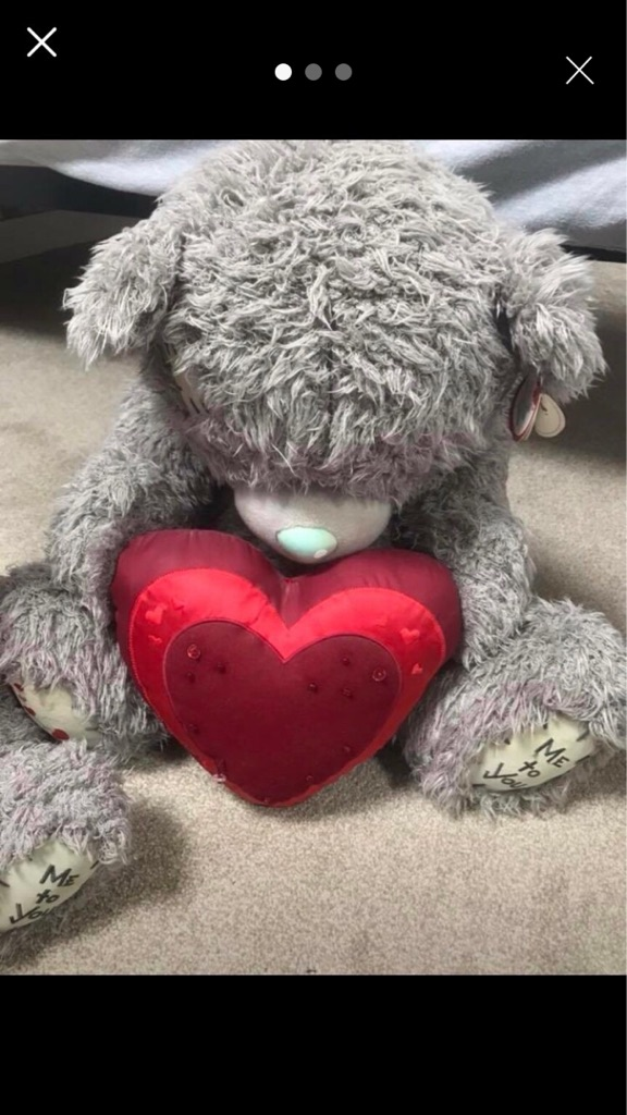 Large Tatty Teddy Bear