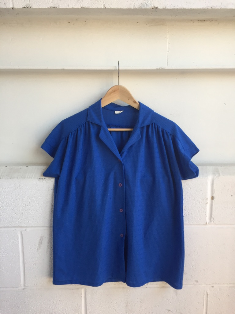 Vintage blue shirt size 10