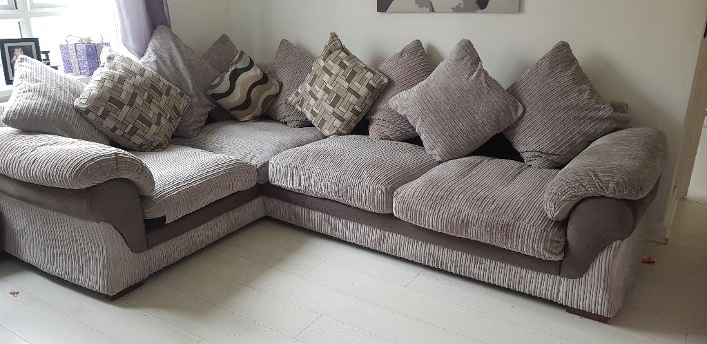 Corner sofa swivel chair and foot stool