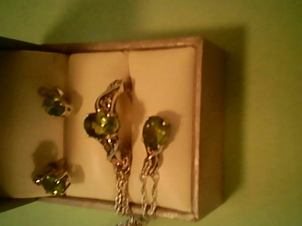 Full Set...Genuine Peridot and Diamond's , $75. FIRM