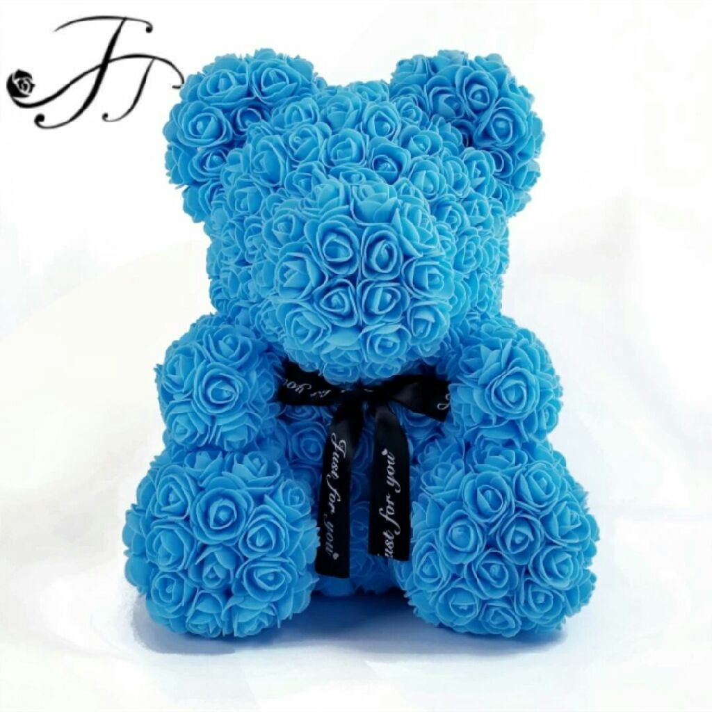 Beautiful Teddy Bear foam rose 36 cm