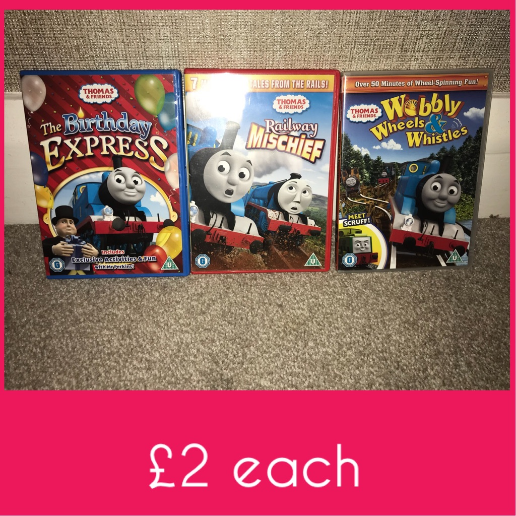 Thomas DVDS £2 each