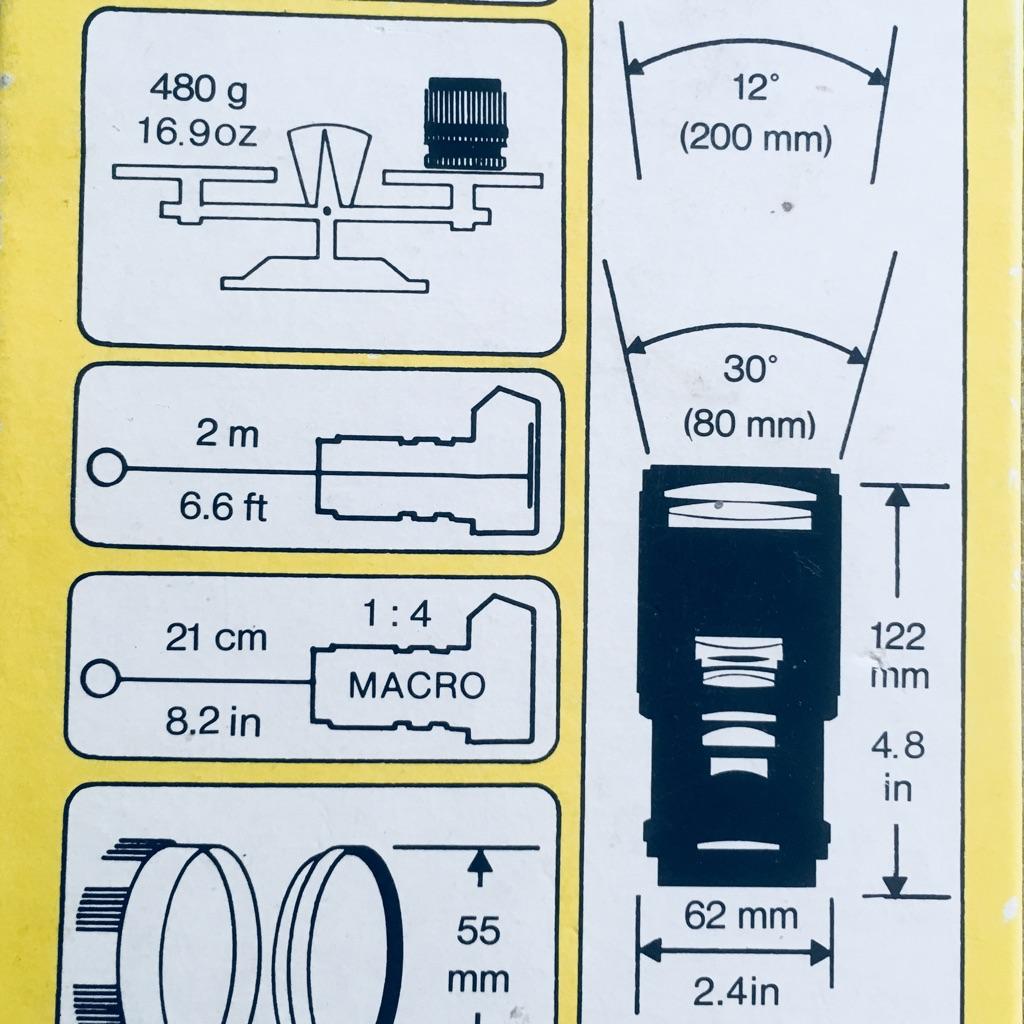 CAMERA LENS - SOLIGOR 80-200mm/f4.5