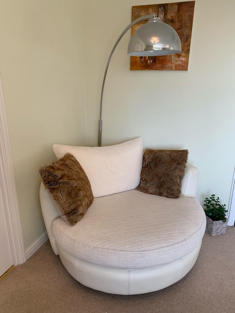 REDUCED DFS 2 seater cuddler chair