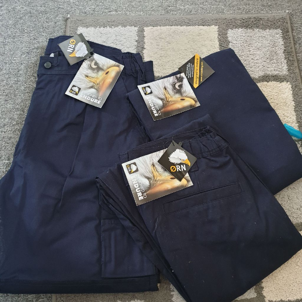 brand new work trousers