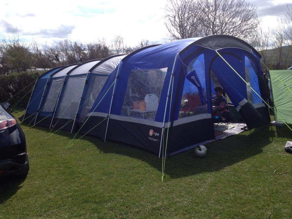 Full tent and camping set up