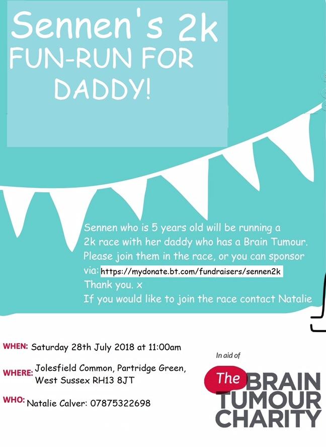 2k Charity Fun Run for Brain Tumour Charity