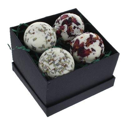 Bath creamers luxury gift box of four rose and lavender