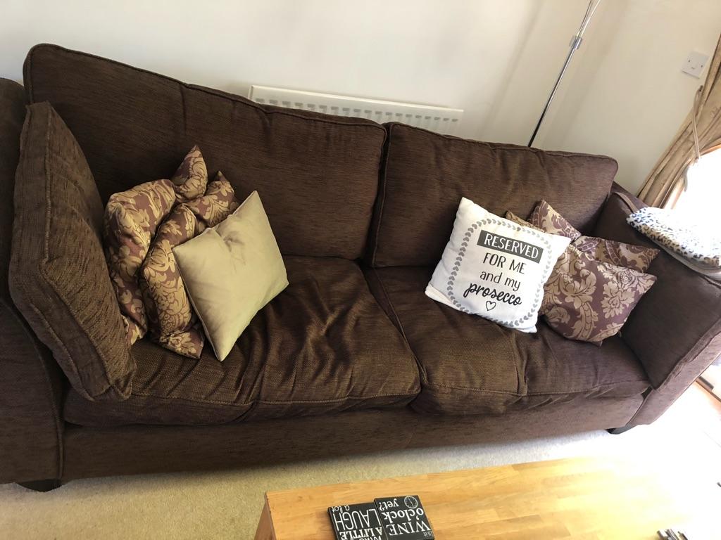 Chocolate coloured Sofa