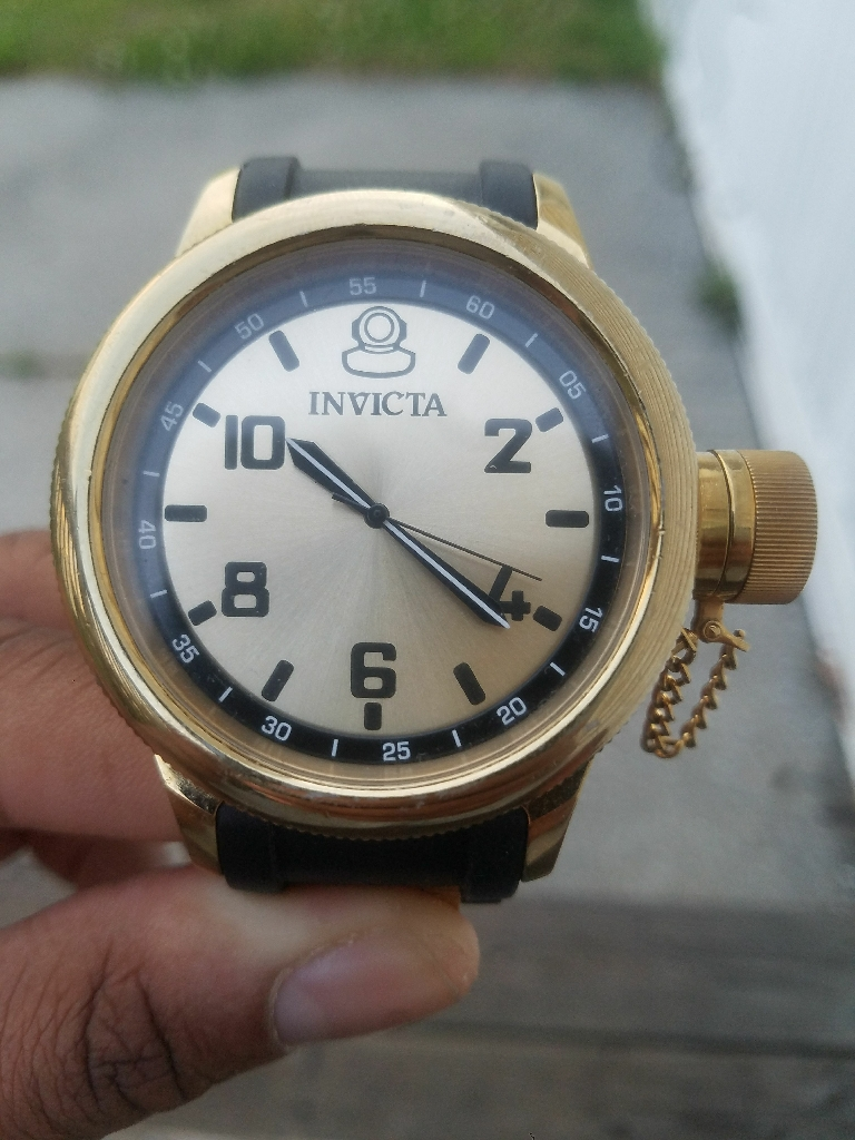 Black/Gold Mens Invicta Watch