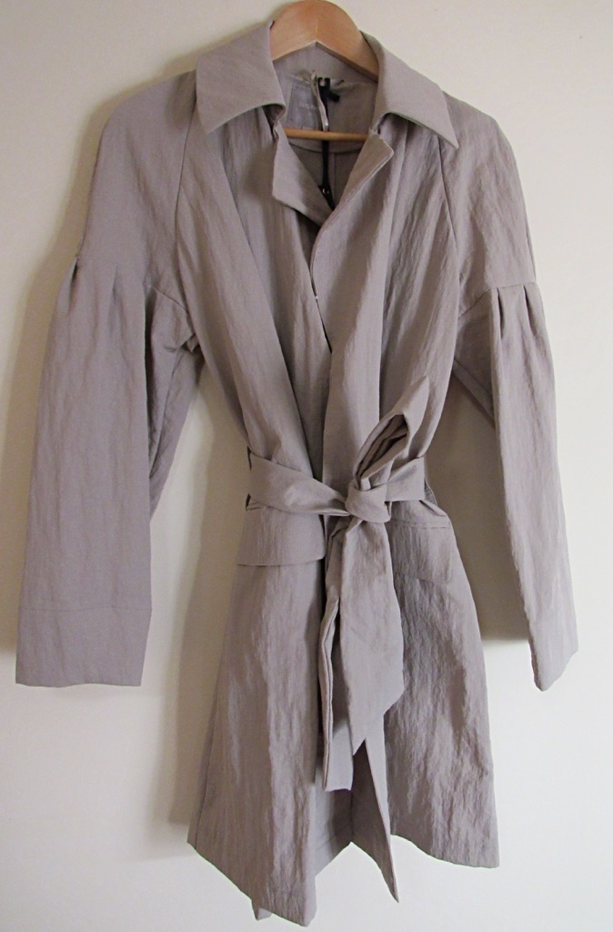 Neutral Waterfall Trench Coat Size 10