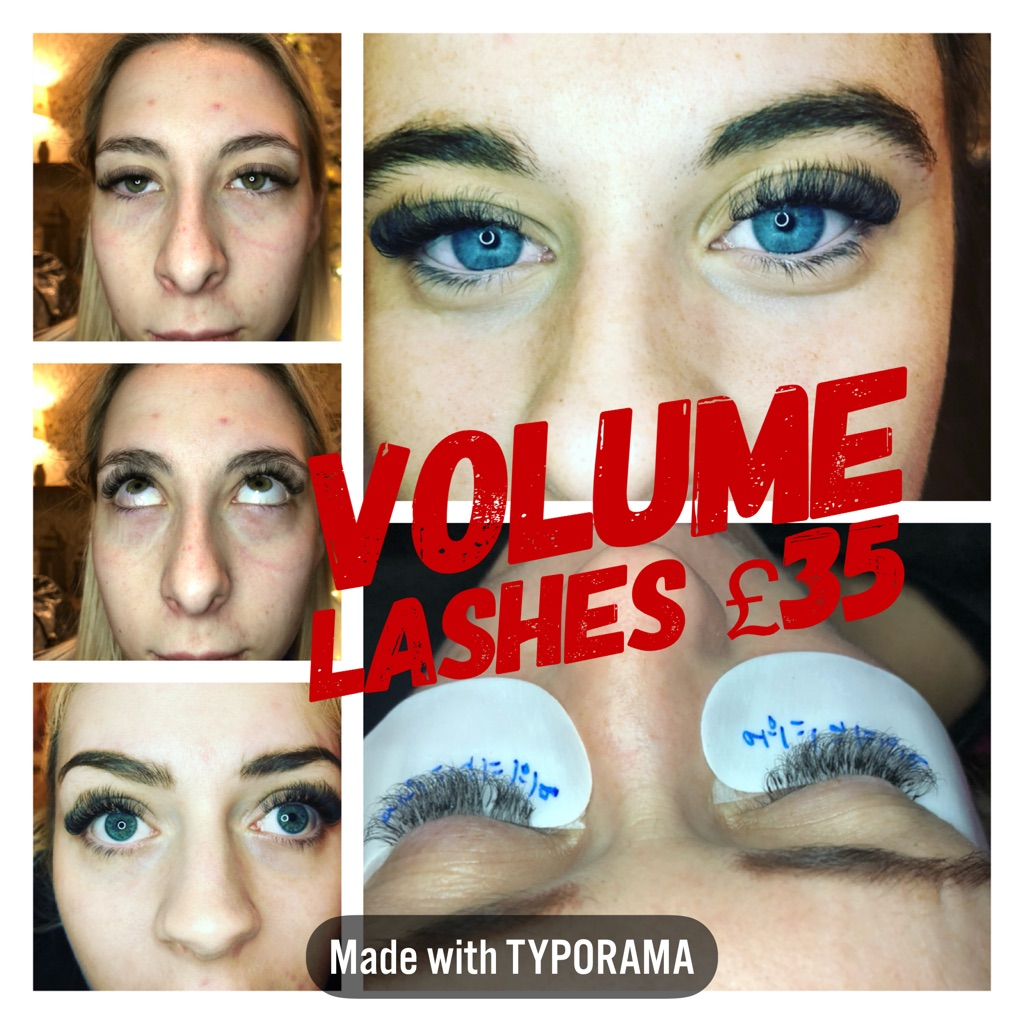 Semi permanent eyelashes volume and classic
