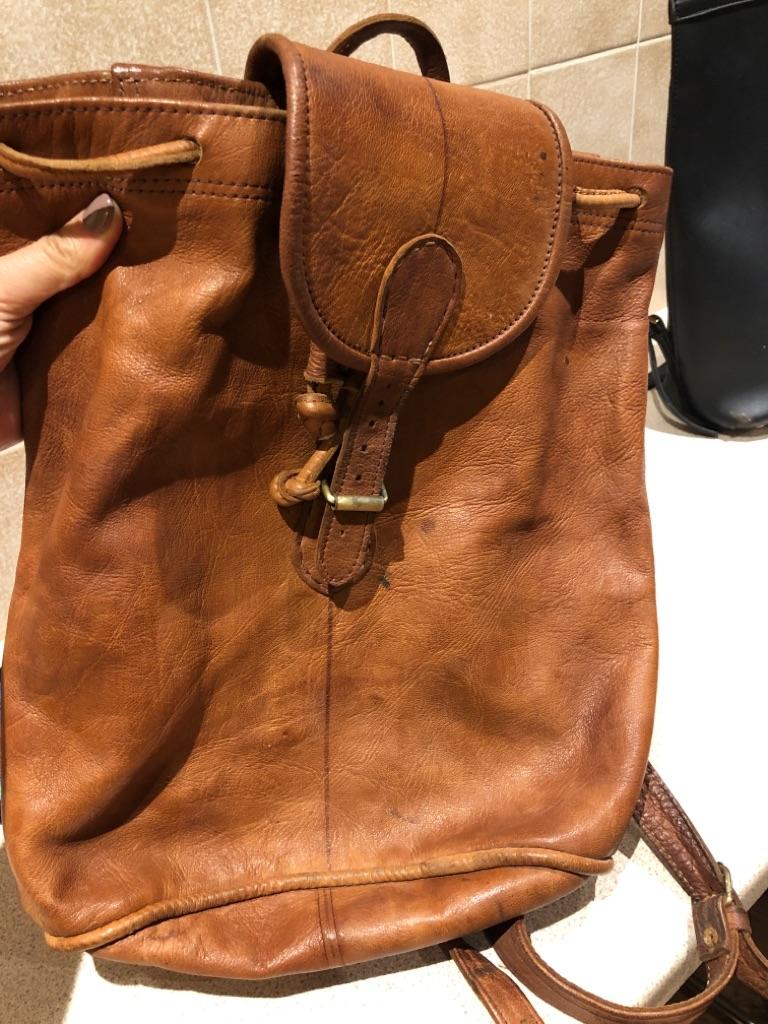 Leather backbag