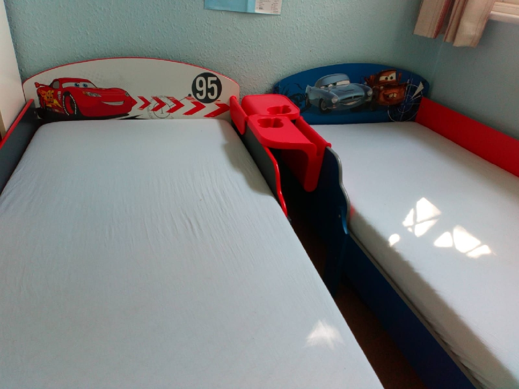 2 Cars Themed Toddler Beds with Mattresses