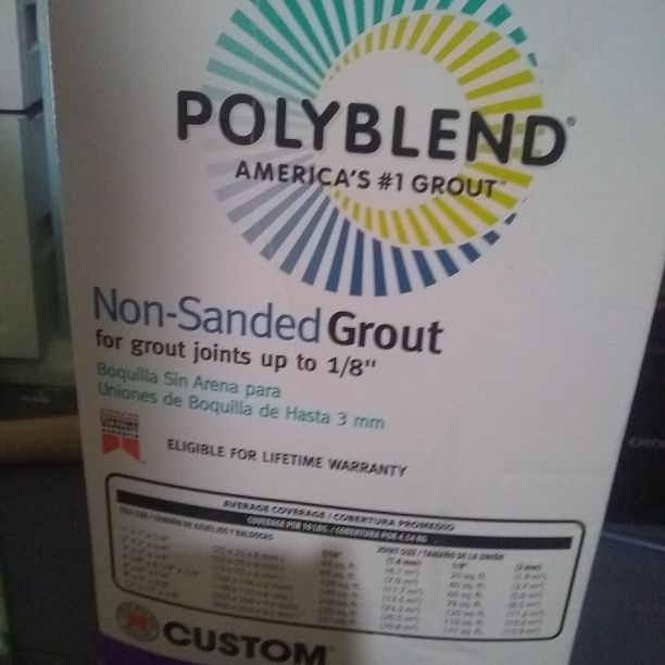 Nonsanded grout