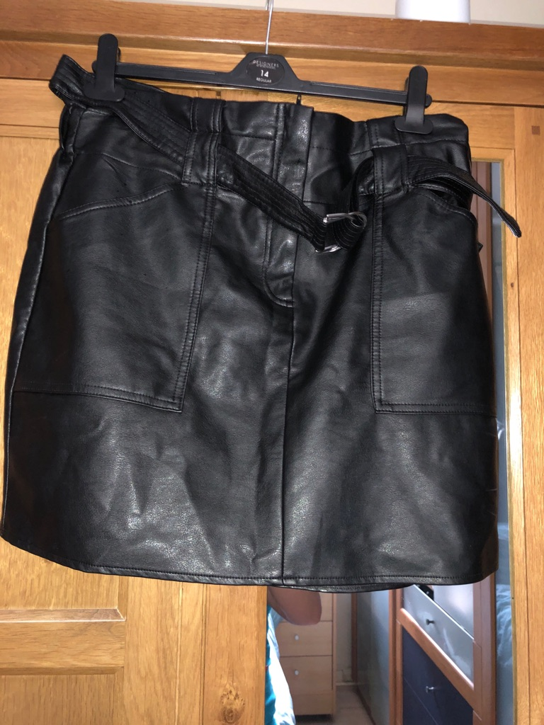 Ladies River Island Leather skirt size 16