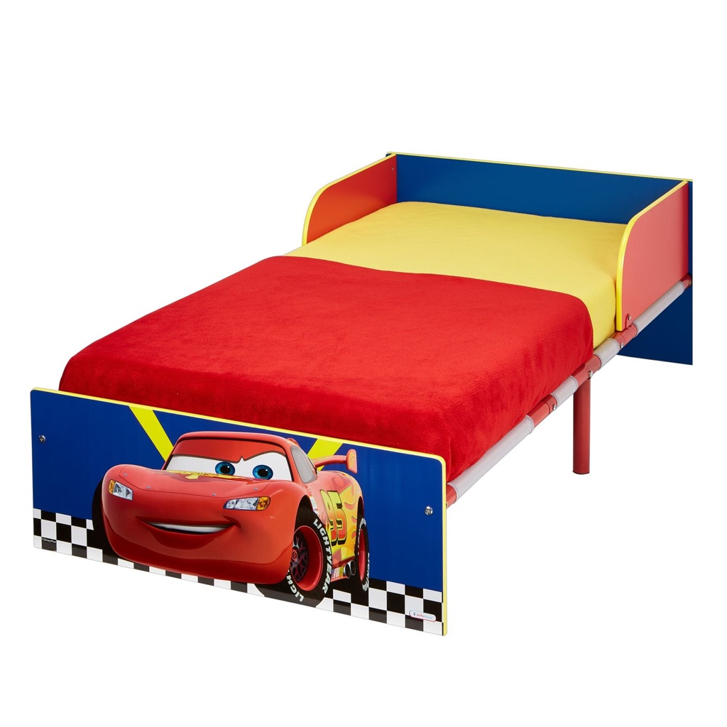 Cars Toddler Bed with Foam Mattress
