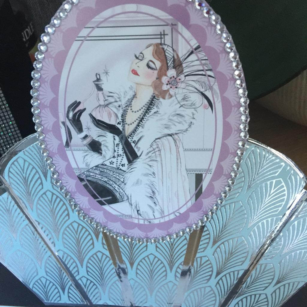 Handmade Art Deco any occasion card