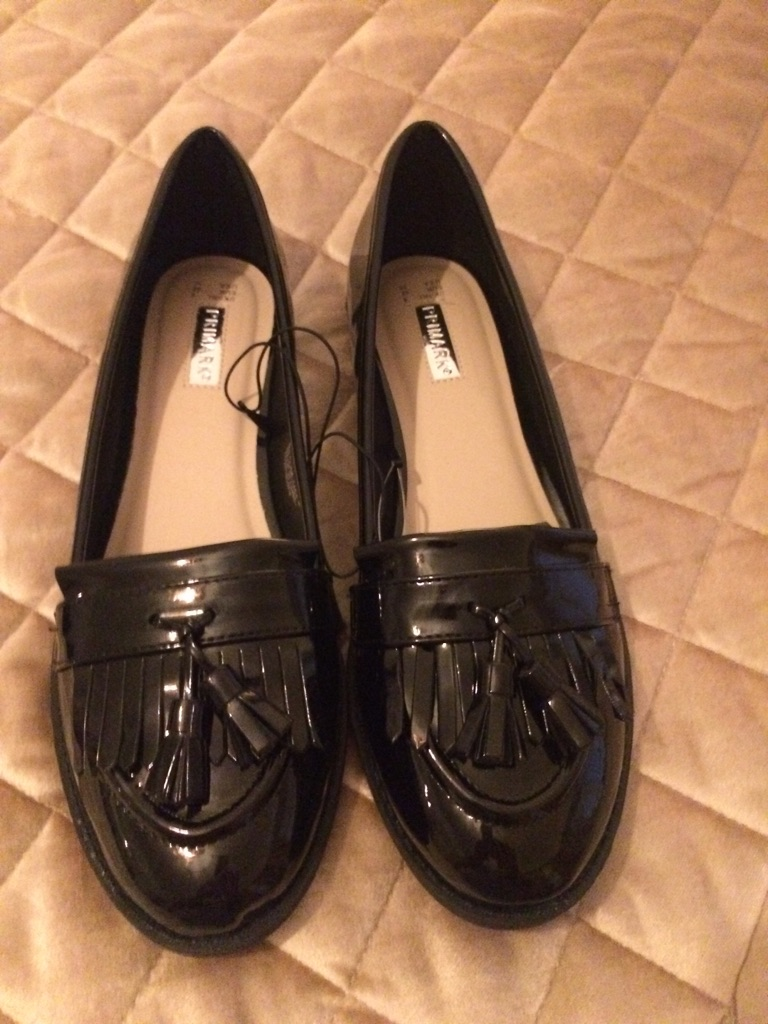 Brand new ladies black patient shoes size 8
