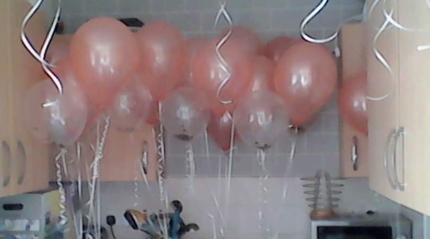 Helium tank and balloons
