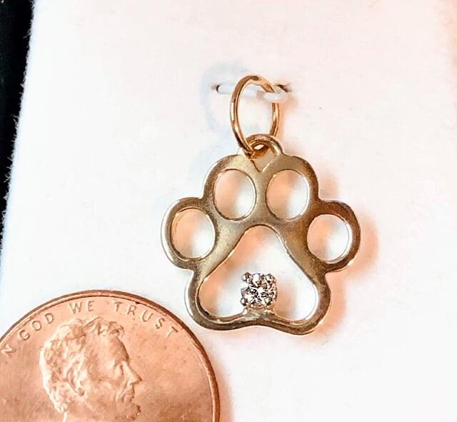 Puppy Paw® Pendant with .07 Ct Diamond