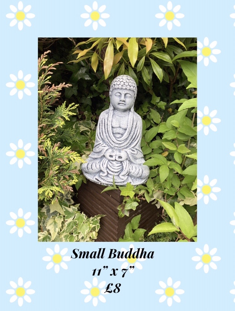 Garden Ornaments Buddhas Handmade Reconstructed Stone Brand New Various Sizes/Prices