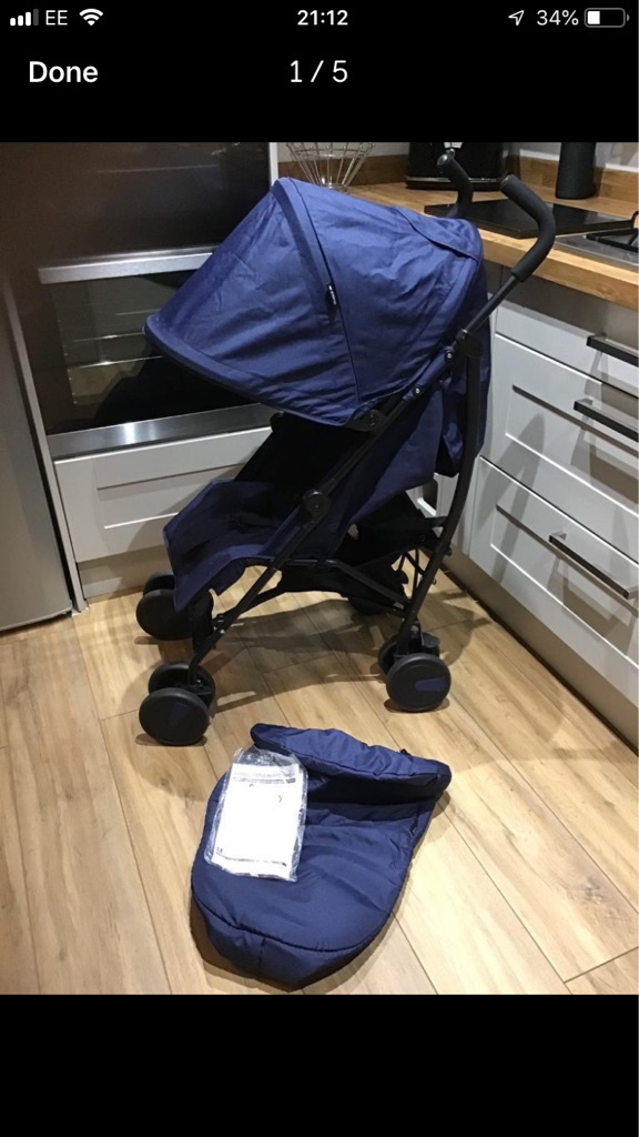Cuggl Maple Pushchair with Footmuff - Navy Blue