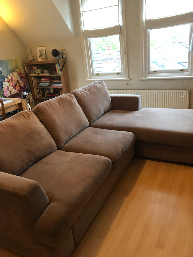 4 seater, chaise end sofa