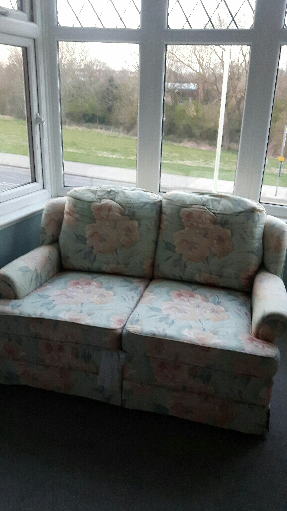 Small patterned sofa