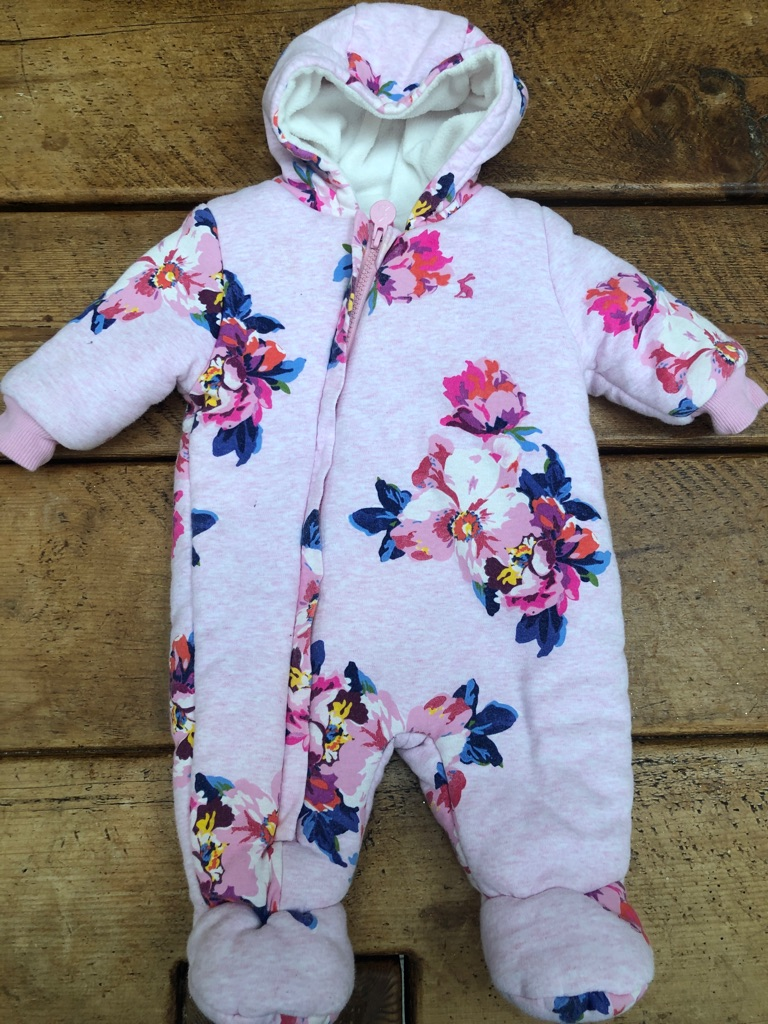Baby joules snow suit 0 to 3 months