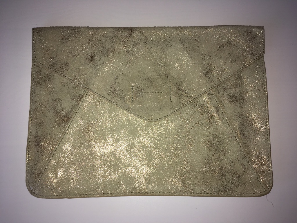 Gold clutch bag from GAP