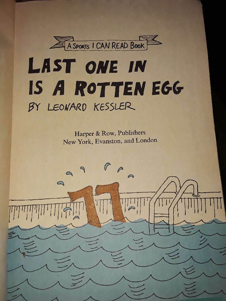 Last one in is a rotten egg vintage book