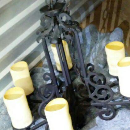Chandelier Black steel  6 bulbs