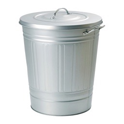 IKEA KNODD bin with lid galvanised steel