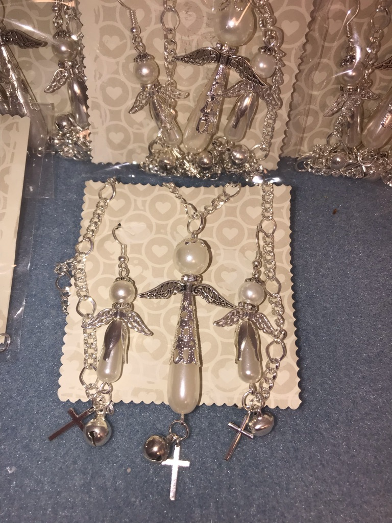 Angel earrings and necklaces set