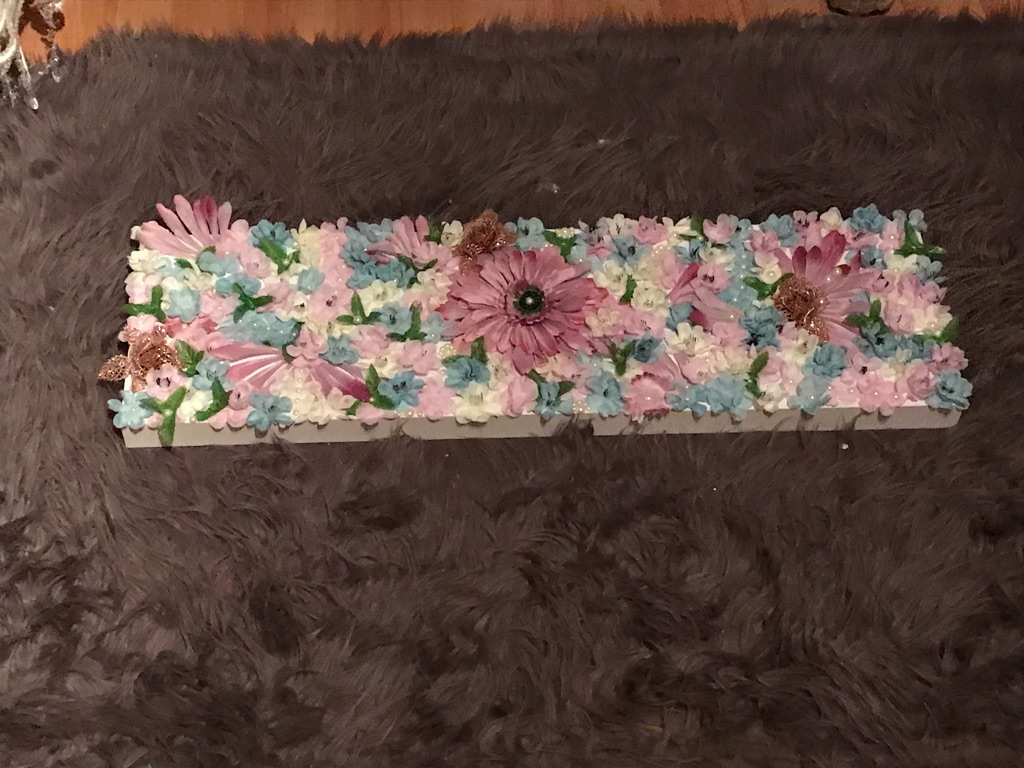 Blue Blossom Flower Canvas