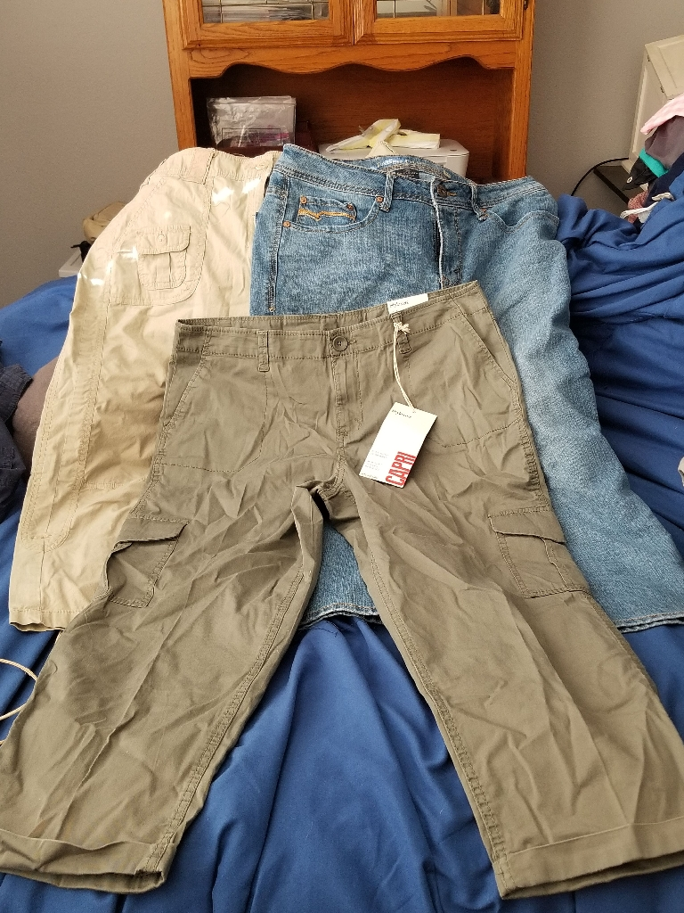 Women's size 12 Jean's and capris