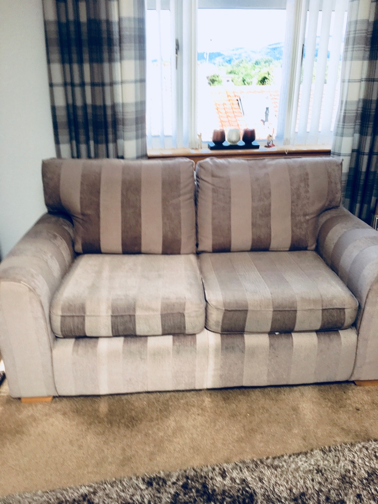 Next 2 x2 seater sofa s and foot stool