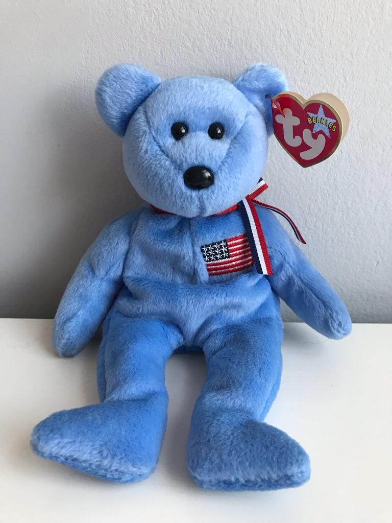 TY Beanie Bear - America