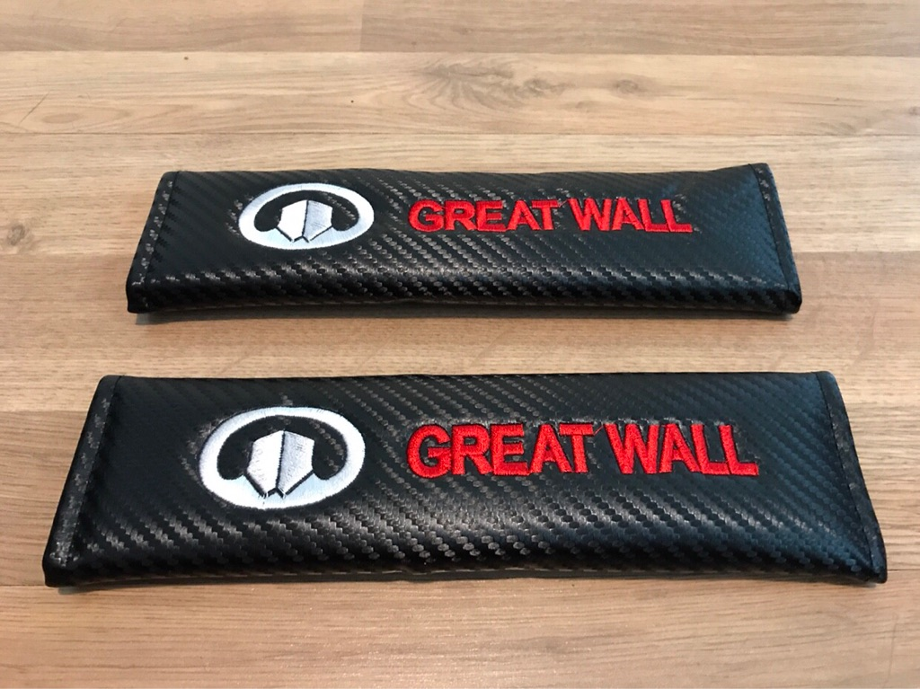 2X Seat Belt Pads Carbon Gift Great Wall Steed TD SE Pickup SUV TDI