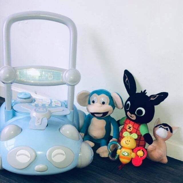 💥Baby Walker With Toys All In New Condition All For £15Ring Or Text People From Northern Ireland Area Only Please 07702050178💥