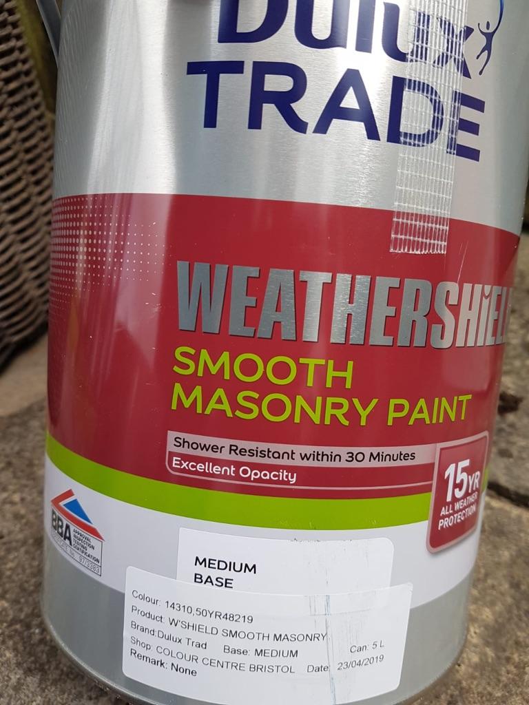 Weathershield smooth masonary paint