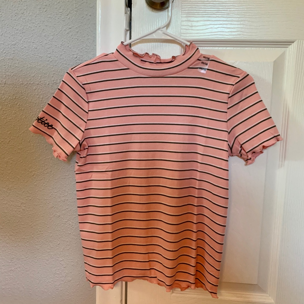 Brand New With Tags Ribbed Mock Neck Tee from Justice