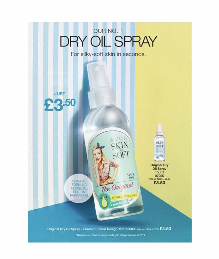Avon's skin so soft dry oil spray